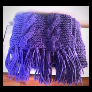 Urban Outfitters extra large fluffy purple scarf